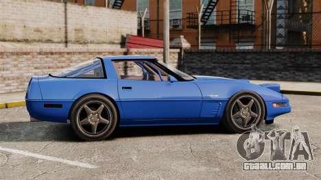 Chevrolet Corvette C4 1996 v2 para GTA 4 esquerda vista