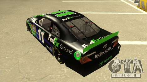 Toyota Camry NASCAR No. 11 FedEx Ground para GTA San Andreas vista traseira