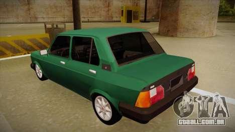 Fiat 128 Super Europa para GTA San Andreas vista traseira