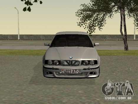 BMW 525I para GTA San Andreas esquerda vista
