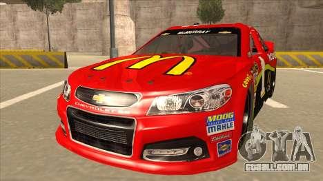 Chevrolet SS NASCAR No. 1 McDonalds para GTA San Andreas