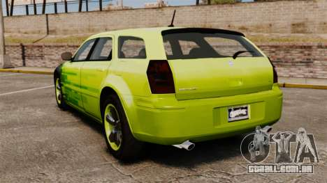 Dodge Magnum West Coast Customs para GTA 4 traseira esquerda vista