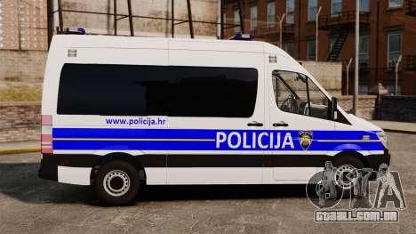 Mercedes-Benz Sprinter Croatian Police [ELS] para GTA 4 esquerda vista