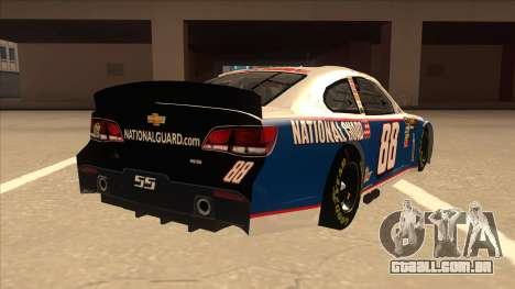 Chevrolet SS NASCAR No. 88 National Guard para GTA San Andreas vista direita