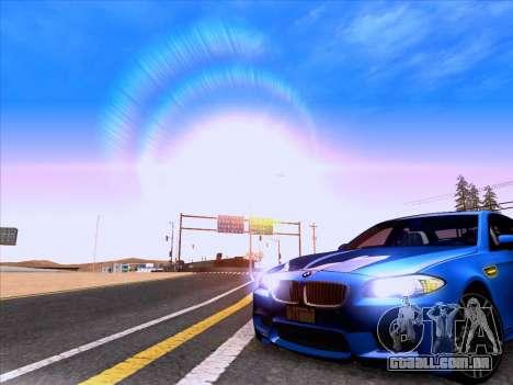 BMW M5 F10 2012 Autovista para GTA San Andreas vista direita