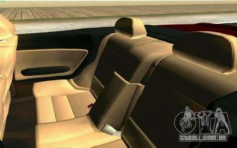 BMW M3 Cabrio para GTA San Andreas vista inferior