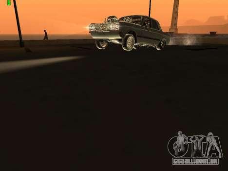 Edição de arrastar gás 24 para GTA San Andreas vista traseira