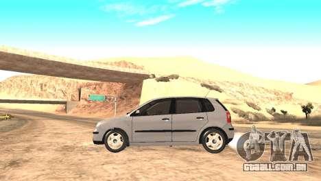 Volkswagen Polo 2.0 2005 para GTA San Andreas traseira esquerda vista