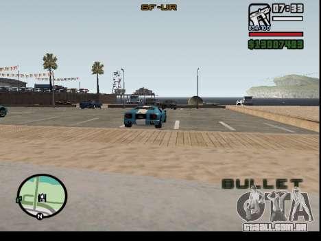 O seqüestro de carros para GTA San Andreas segunda tela