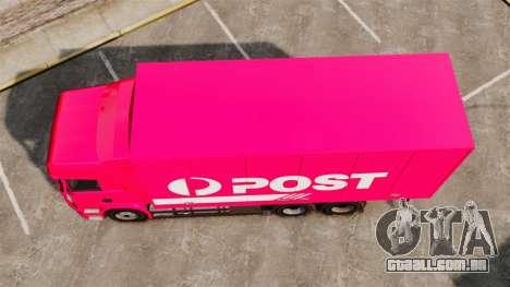Scania R580 Tandem Australia Post para GTA 4 vista direita