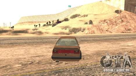 Volkswagen Jetta MK2 para GTA San Andreas traseira esquerda vista