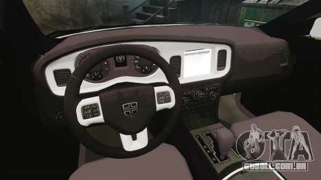 Dodge Charger 2013 AST [ELS] para GTA 4 vista de volta