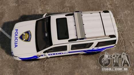 Nissan Pathfinder Croatian Police [ELS] para GTA 4 vista direita