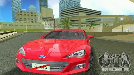 Subaru BRZ Type 1 para GTA Vice City deixou vista