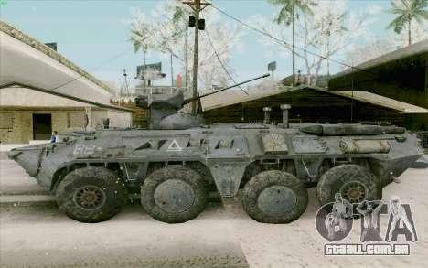 BTR-80 para GTA San Andreas traseira esquerda vista