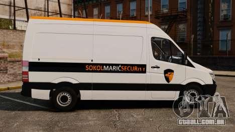 Mercedes-Benz Sprinter Sokol Maric Security para GTA 4 esquerda vista