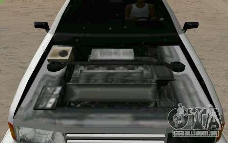 Manana Hatchback para GTA San Andreas vista superior