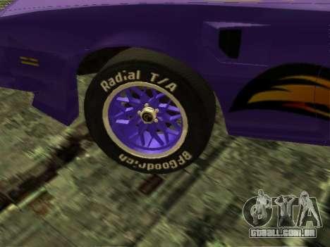Pontiac Firebird Overhaulin para GTA San Andreas vista direita