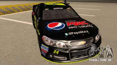 Chevrolet SS NASCAR No. 24 Pepsi Max AARP para GTA San Andreas esquerda vista