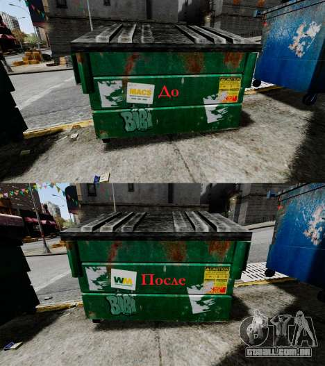 Caixotes do lixo, desperdício Management Inc. para GTA 4
