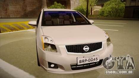 Nissan Sentra S 2008 para GTA San Andreas esquerda vista