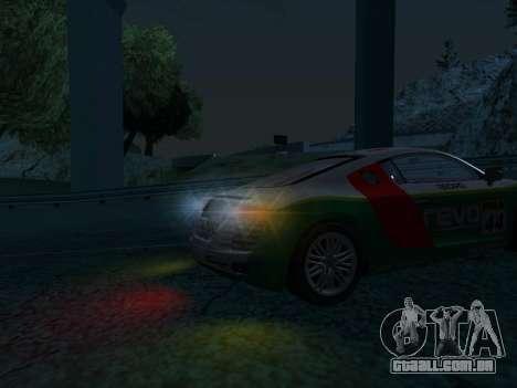 Audi R8 para GTA San Andreas vista direita