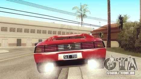 Ferrari 348 TB para GTA San Andreas esquerda vista