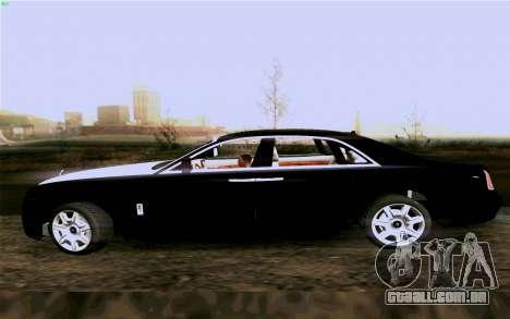 Rolls-Royce Ghost para GTA San Andreas vista direita
