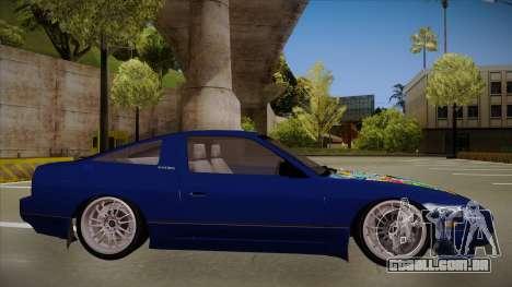 Nissan 240sx JDM style para GTA San Andreas traseira esquerda vista