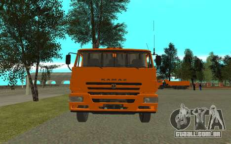 KAMAZ 6520 cimento para GTA San Andreas vista direita