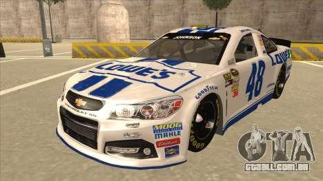 Chevrolet SS NASCAR No. 48 Lowes white para GTA San Andreas