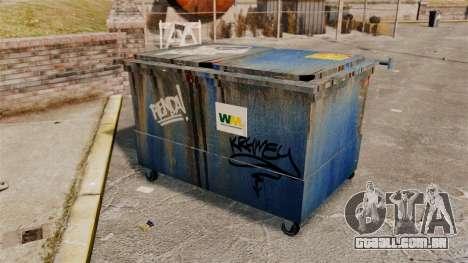 Caixotes do lixo, desperdício Management Inc. para GTA 4 por diante tela