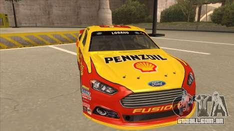 Ford Fusion NASCAR No. 22 Shell Pennzoil para GTA San Andreas esquerda vista