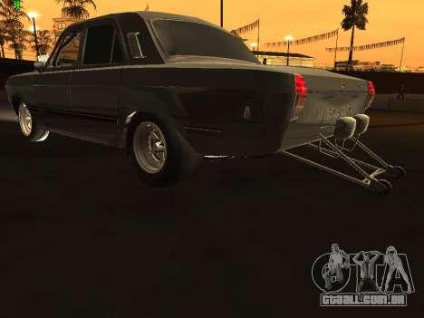 Edição de arrastar gás 24 para GTA San Andreas traseira esquerda vista