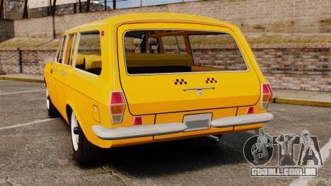 Táxi de Volga GAZ-24-02 para GTA 4 traseira esquerda vista
