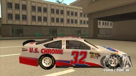Ford Fusion NASCAR No. 32 U.S. Chrome para GTA San Andreas traseira esquerda vista