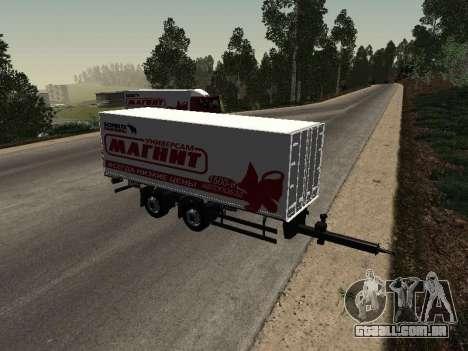 Trailer homem imã para GTA San Andreas traseira esquerda vista