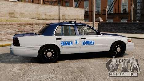 Ford Crown Victoria Virginia State Police [ELS] para GTA 4 esquerda vista