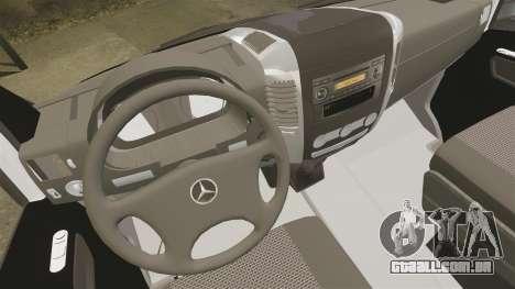 Mercedes-Benz Sprinter Sokol Maric Security para GTA 4 vista interior