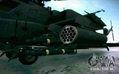 AH-64 Apache para GTA San Andreas vista interior