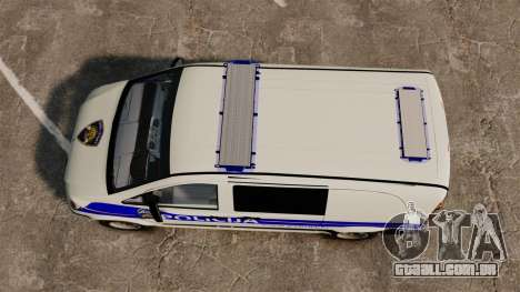 Mercedes-Benz Vito Croatian Police v2.0 [ELS] para GTA 4 vista direita