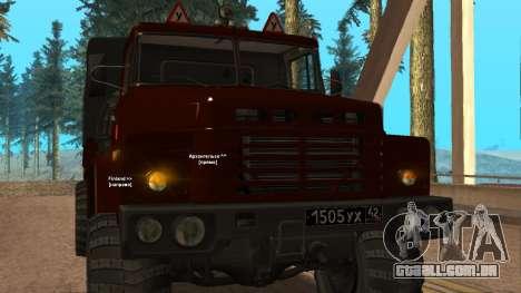 Caminhão escola de condução v. 2.0 para GTA San Andreas vista interior