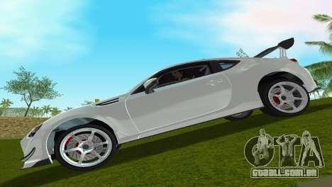 Subaru BRZ Type 4 para GTA Vice City vista traseira esquerda