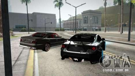 Toyota Chaser Tourer V para GTA San Andreas vista inferior