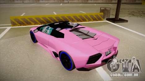 Lamborghini Reventon v2 para GTA San Andreas vista traseira