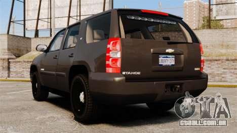 Chevrolet Tahoe Slicktop [ELS] v2 para GTA 4 traseira esquerda vista