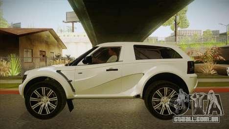 Coco EXR S 2012 FIV & APT para GTA San Andreas traseira esquerda vista