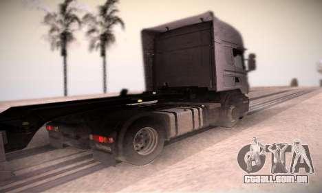 Scania R500 Topline para GTA San Andreas traseira esquerda vista
