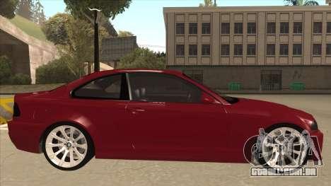 BMW M3 Tuned para GTA San Andreas traseira esquerda vista