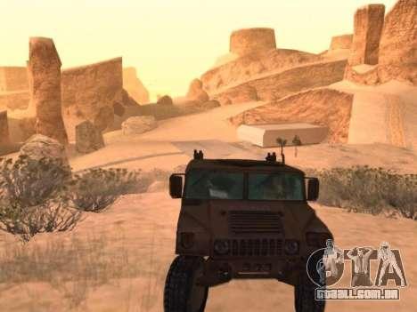 Hummer H1 do jogo Resident Evil 5 para GTA San Andreas vista direita